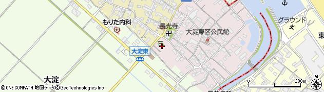 竹大與杼神社周辺の地図
