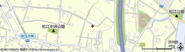 岡山県倉敷市粒江周辺の地図