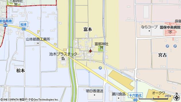 〒636-0307 奈良県磯城郡田原本町富本の地図