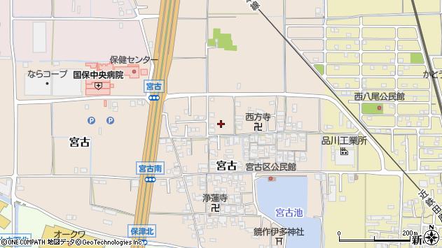 〒636-0302 奈良県磯城郡田原本町宮古の地図