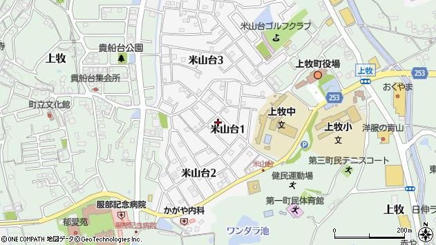 〒639-0213 奈良県北葛城郡上牧町米山台の地図