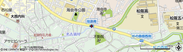 垣鼻南周辺の地図