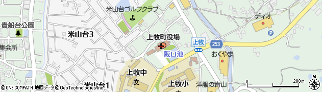 奈良県上牧町(北葛城郡)周辺の地図