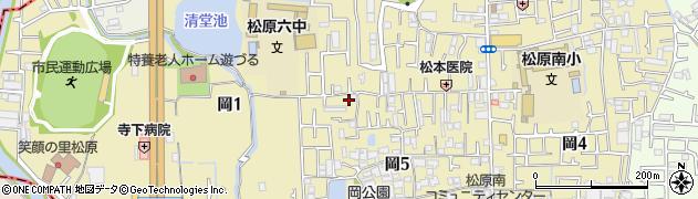 大阪府松原市岡周辺の地図