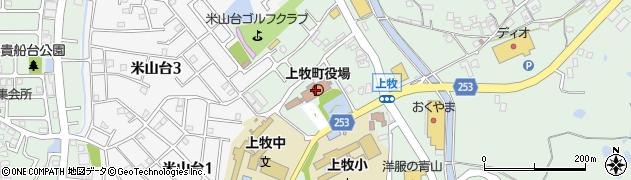 奈良県北葛城郡上牧町周辺の地図