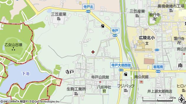 〒635-0817 奈良県北葛城郡広陵町寺戸の地図