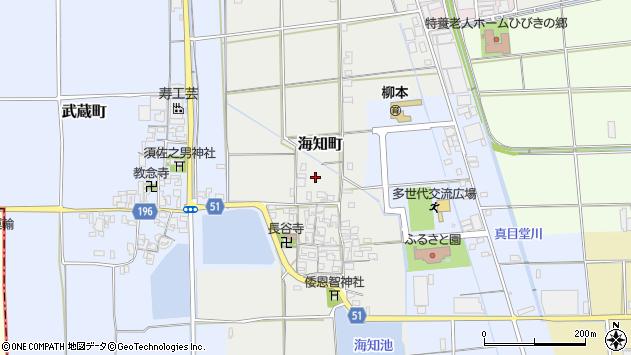 〒632-0064 奈良県天理市海知町の地図