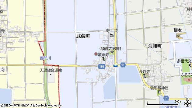 〒632-0065 奈良県天理市武蔵町の地図