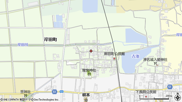 〒632-0056 奈良県天理市岸田町の地図
