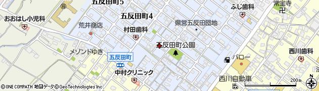 三重県松阪市五反田町周辺の地図