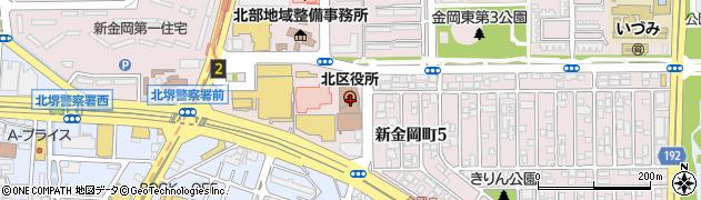 大阪府堺市北区周辺の地図