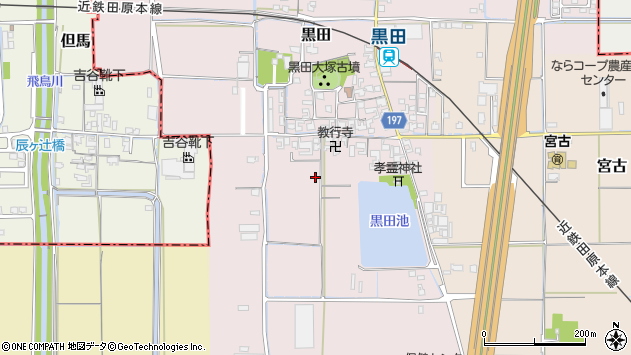 〒636-0301 奈良県磯城郡田原本町黒田の地図