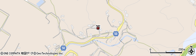 奈良県桜井市笠周辺の地図