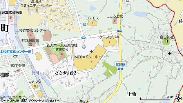 〒639-0218 奈良県北葛城郡上牧町ささゆり台の地図