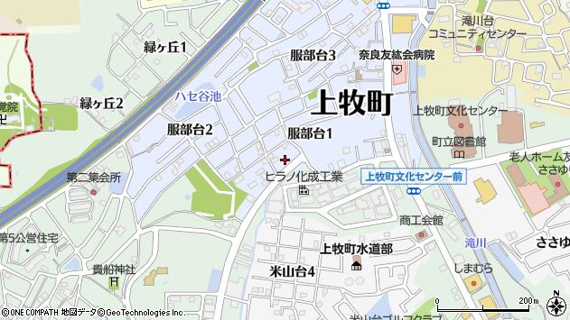 〒639-0212 奈良県北葛城郡上牧町服部台の地図