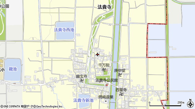 〒636-0222 奈良県磯城郡田原本町法貴寺の地図