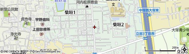 大阪府松原市柴垣周辺の地図