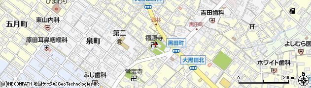 福源寺周辺の地図
