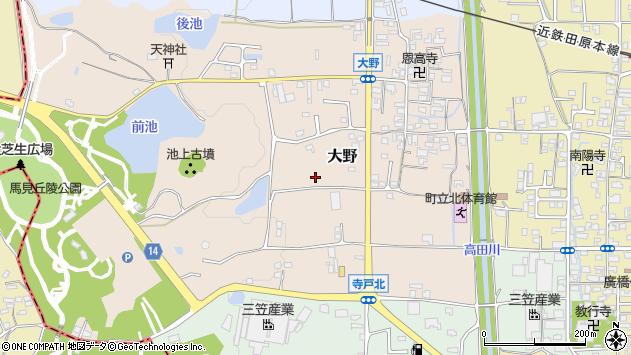 〒635-0803 奈良県北葛城郡広陵町大野の地図