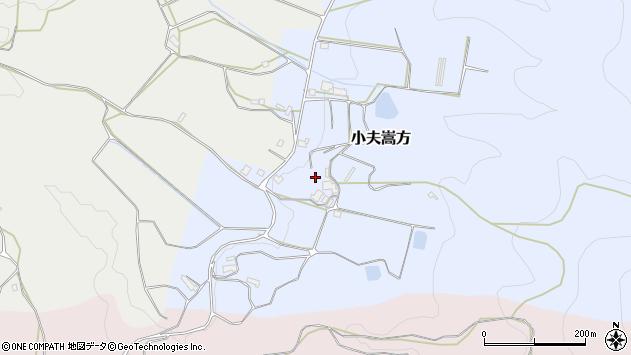 〒633-0103 奈良県桜井市小夫嵩方の地図