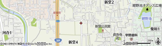 大阪府松原市新堂周辺の地図