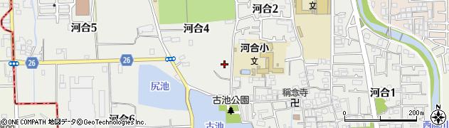 大阪府松原市河合周辺の地図