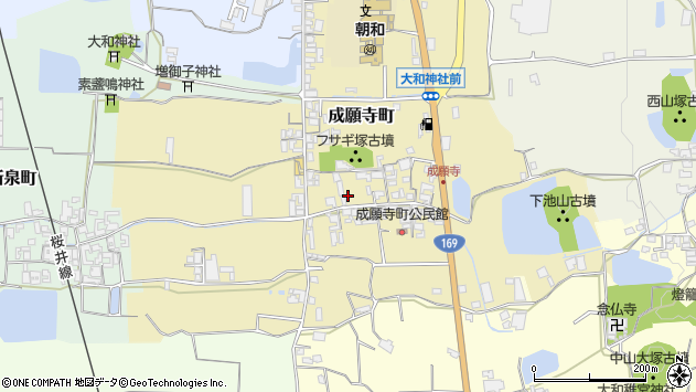 〒632-0058 奈良県天理市成願寺町の地図
