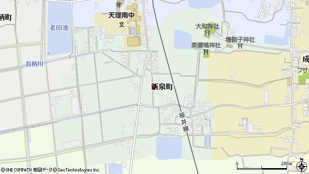 〒632-0057 奈良県天理市新泉町の地図