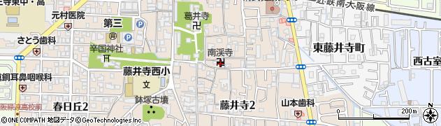 南渓寺周辺の地図