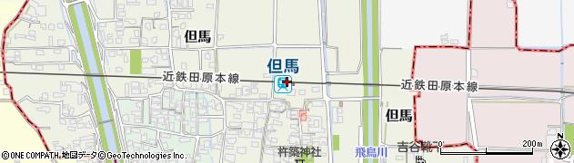 奈良県磯城郡三宅町周辺の地図