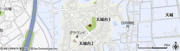 岡山県倉敷市天城台周辺の地図