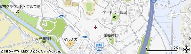 岡山県倉敷市有城周辺の地図