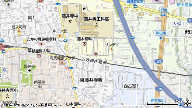 〒583-0021 大阪府藤井寺市御舟町の地図