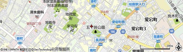 三重県松阪市五十鈴町周辺の地図
