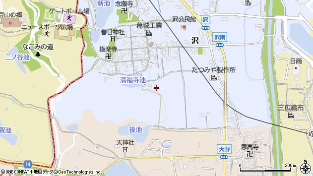 〒635-0804 奈良県北葛城郡広陵町沢の地図