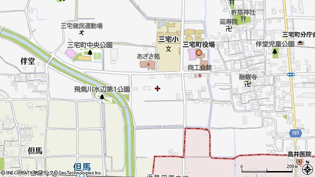 〒636-0213 奈良県磯城郡三宅町伴堂の地図