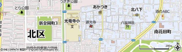 源光寺周辺の地図