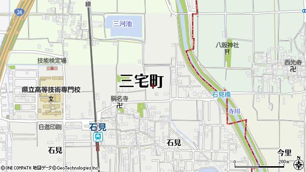 〒636-0212 奈良県磯城郡三宅町石見の地図