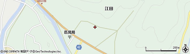 島根県益田市匹見町匹見(江田)周辺の地図