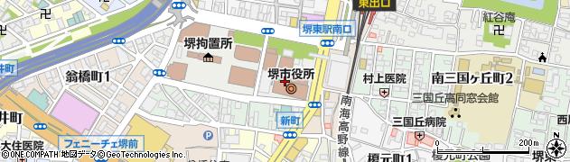 大阪府堺市堺区周辺の地図