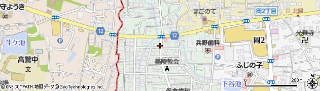 大阪府藤井寺市恵美坂周辺の地図