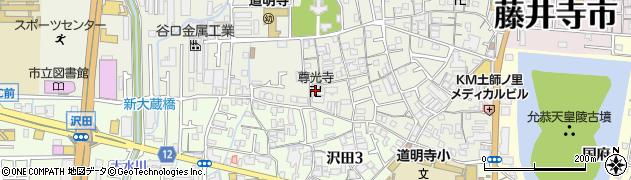 尊光寺周辺の地図