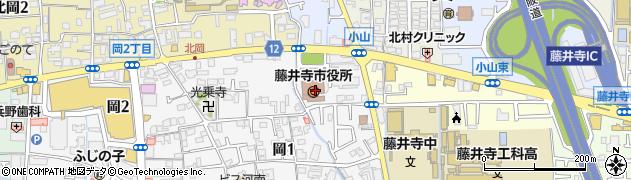 大阪府藤井寺市周辺の地図
