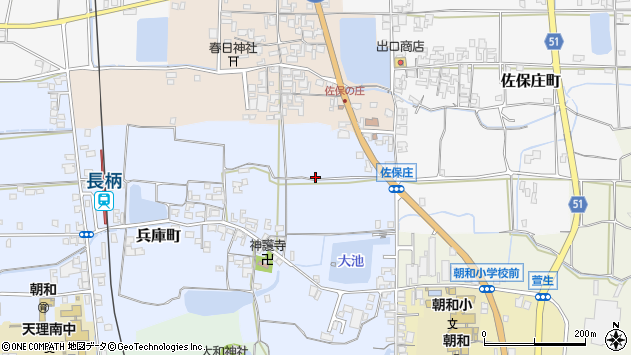 〒632-0044 奈良県天理市兵庫町の地図