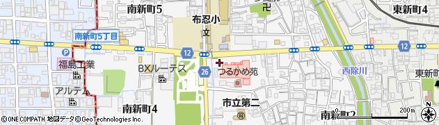 大阪府松原市南新町周辺の地図