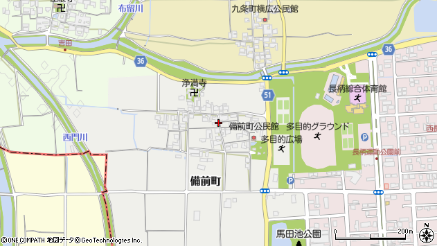 〒632-0066 奈良県天理市備前町の地図