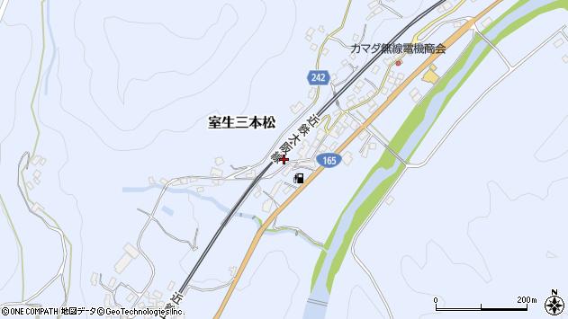 〒633-0317 奈良県宇陀市室生三本松の地図
