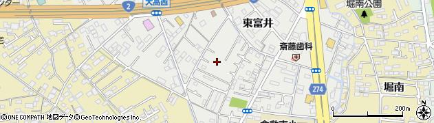 岡山県倉敷市東富井周辺の地図