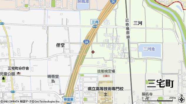 〒636-0211 奈良県磯城郡三宅町三河の地図