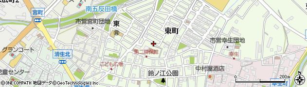 三重県松阪市東町周辺の地図